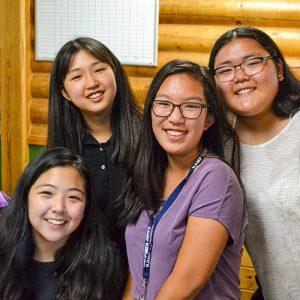 Four gals at Kamp Kimchee