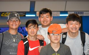 Boys at Bowling Alley