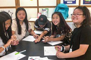 5 students at kamp kimchee