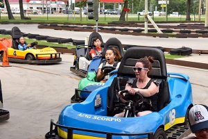 Group go carting