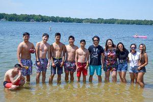 Group at the lake