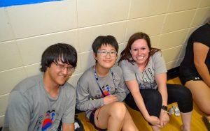 Smiling camp members at Kamp Kimchee