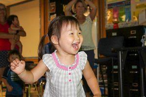 Toddler dancing with Korean Music